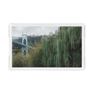 St. John's Bridge from Cathedral Park Acrylic Tray