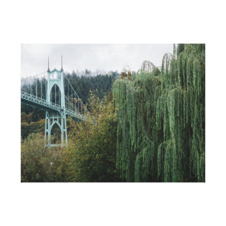 St. John's Bridge from Cathedral Park Canvas Print
