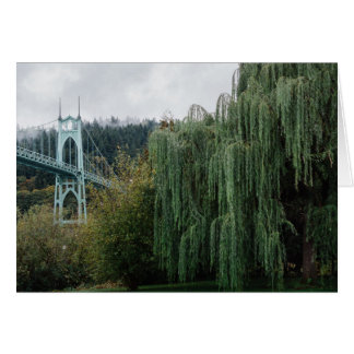 St. John's Bridge from Cathedral Park Card