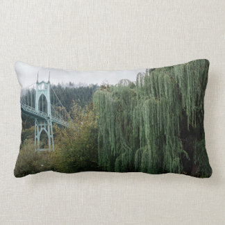 St. John's Bridge from Cathedral Park Lumbar Pillow