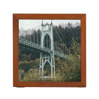 St. John's Bridge in Portland Desk Organizer