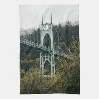 St. John's Bridge in Portland Kitchen Towel