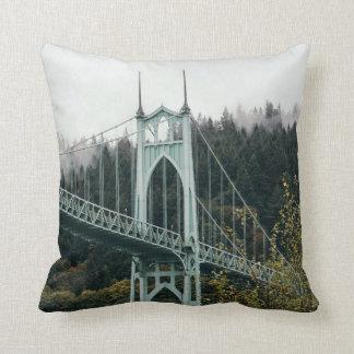 St. John's Bridge in Portland Throw Pillow