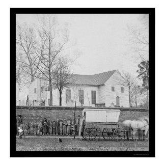 St. John's Church in Richmond, VA 1865 Poster