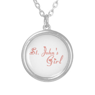 St. John's Girl Silver Plated Necklace