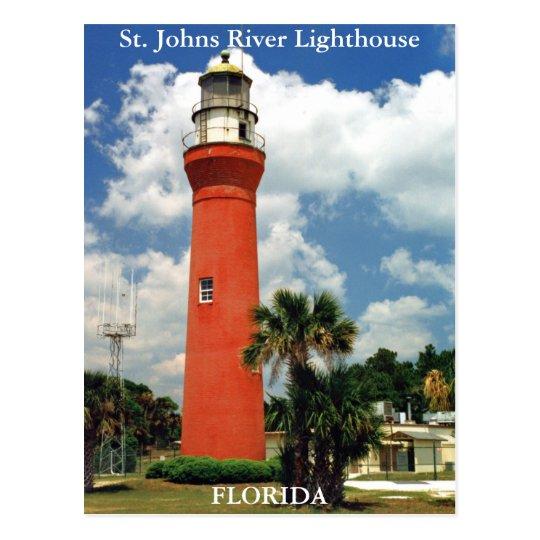St. Johns River Lighthouse, Florida Postcard