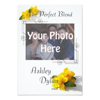 St. John's Wort Blended Family Photo Wedding Card