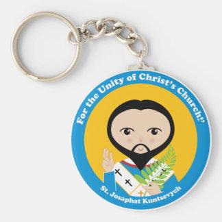 St. Josaphat Kuntsevych Basic Round Button Keychain