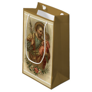 St. Joseph and Baby Jesus I 2 different images Small Gift Bag