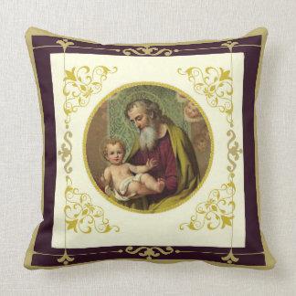 St. Joseph and the Child Jesus Throw Pillow