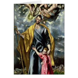 St. Joseph and the Christ Child, 1597-99 Card