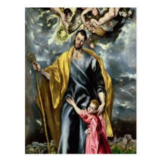 St. Joseph and the Christ Child, 1597-99 Postcard