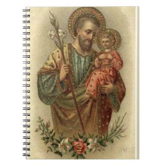 St. Joseph Baby Jesus  Lily Notebook