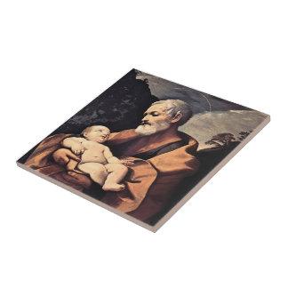 St Joseph by Guido Reni Ceramic Tiles