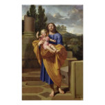 St. Joseph Carrying the Infant Jesus, 1665 Poster