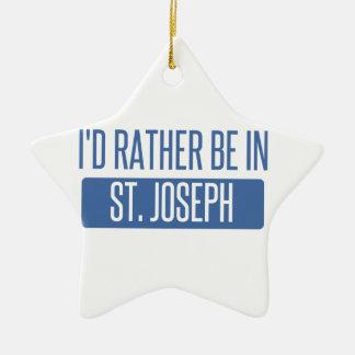 St. Joseph Ceramic Ornament