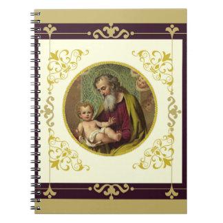St. Joseph & Child Jesus Decorative Gold Notebooks