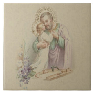 St. Joseph Child Jesus Traditional Carpenter Tile