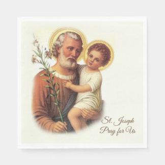 St. Joseph Day Feast Napkins Disposable Napkins
