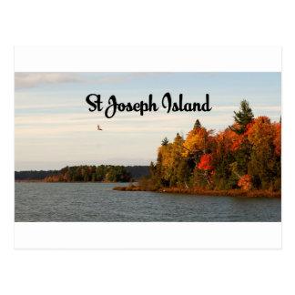 St Joseph Island lake view Postcard