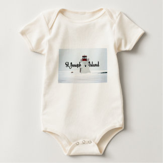 St Joseph Island lighthouse Baby Bodysuit