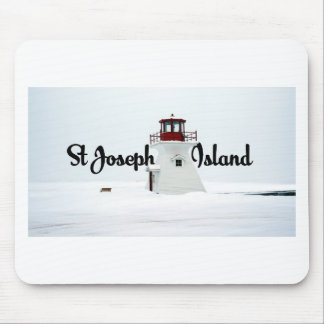 St Joseph Island lighthouse Mouse Pad