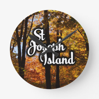 St Joseph Island Maple trees Wall Clocks