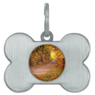 St Joseph Island Maples in Fall Colour Pet Name Tag