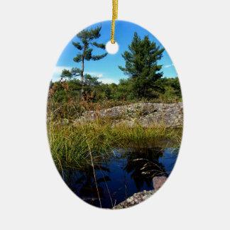St Joseph Island northern Ontario Ceramic Oval Ornament