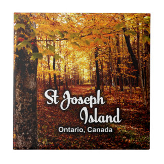 St Joseph Island, Ontario Canada Fall Ceramic Tiles