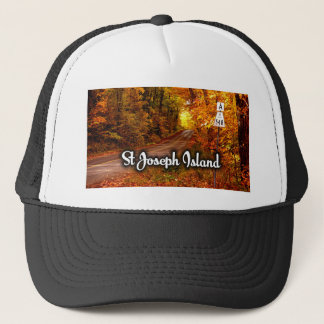 St Joseph Island road Trucker Hat