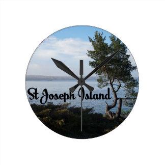 St Joseph Island view Clocks