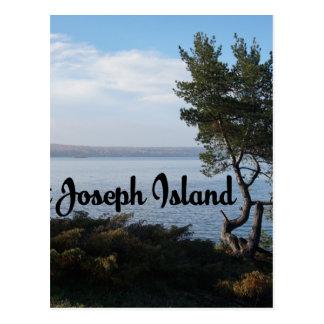 St Joseph Island view Postcard