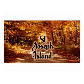 St Joseph Island with fall colours Postcard