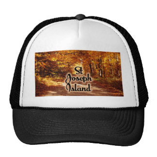 St Joseph Island with fall colours Trucker Hat