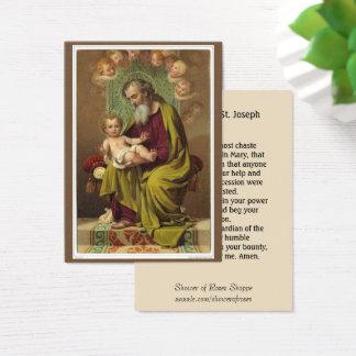 St. Joseph Jesus Angels Memorare Prayer Business Card