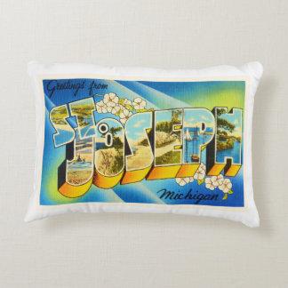 St Joseph Michigan MI Old Vintage Travel Souvenir Decorative Pillow