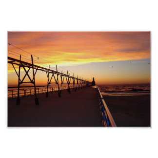St. Joseph Pier Light, Michigan Poster