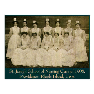 St Joseph School of Nursing Class of 1908 Postcard
