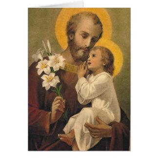 St. Joseph Spiritual Bouquet Card