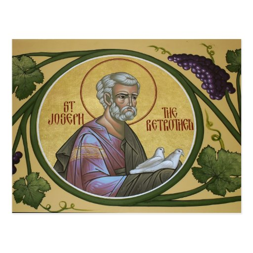 St. Joseph the Betrothed Prayer Card Postcard
