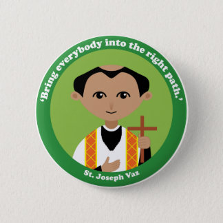 St. Joseph Vaz 2 Inch Round Button