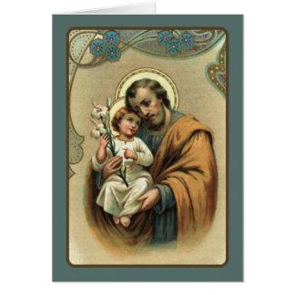 St. Joseph  with Baby Jesus Card