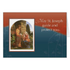St. Joseph with Mary and Jesus and Spirit Card