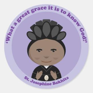 St Josephine Bakhita Round Stickers
