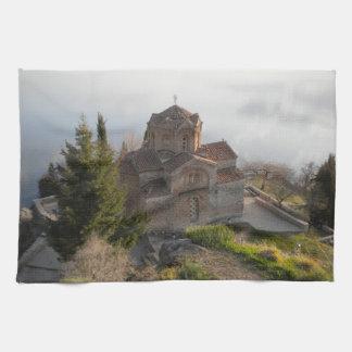 St. Jovan's Church on Lake Ohrid, Macedonia Kitchen Towel