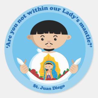 St. Juan Diego Classic Round Sticker