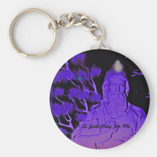 St. Jude Pray For Me Basic Round Button Keychain