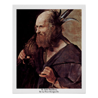 St. Jude Thaddeus, By La Tour Georges De Poster