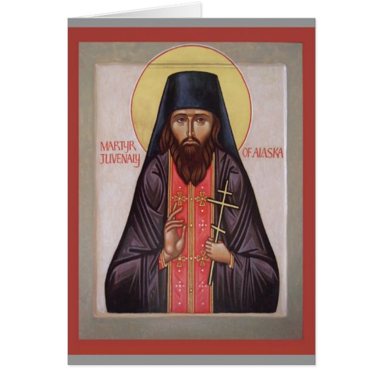 St.Juvenaly icon Note Card